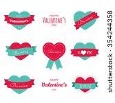 set of  vintage flat elements... | Shutterstock .eps vector #354244358