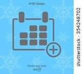web line icon. calendar   Shutterstock .eps vector #354248702