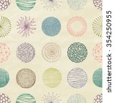 collection of trendy hand drawn ... | Shutterstock .eps vector #354250955