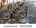 Group Of Bicycles In The Row...
