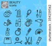 web icons set. beauty  fashion... | Shutterstock .eps vector #354259562