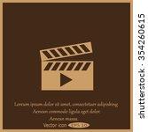 movie clap   vector icon   Shutterstock .eps vector #354260615
