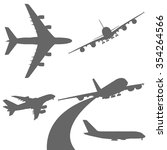 Set Of Airplanes Vector...