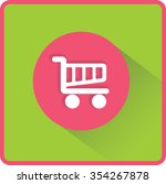 flat vector cart icon | Shutterstock .eps vector #354267878