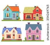 set of four vector illustration ... | Shutterstock .eps vector #354269765