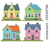 set of four vector illustration ... | Shutterstock .eps vector #354269786