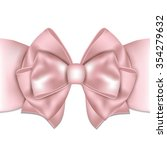 Beautiful Pink Bow With Ribbon...