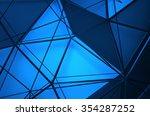 abstract 3d rendering of blue... | Shutterstock . vector #354287252
