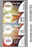 set of modern gift voucher... | Shutterstock .eps vector #354288782