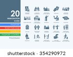 immigration vector set of... | Shutterstock .eps vector #354290972