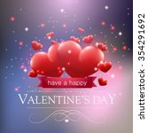 valentines day card with hearts ... | Shutterstock .eps vector #354291692