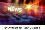 graphical digital news... | Shutterstock . vector #354295055