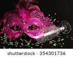 a mask isolated on a black... | Shutterstock . vector #354301736