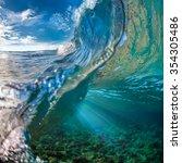 Tropical Ocean With Shorebreak...