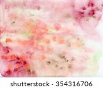 abstract hand painted... | Shutterstock . vector #354316706