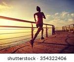 young fitness woman runner... | Shutterstock . vector #354322406