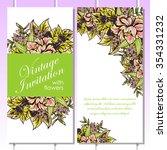 vintage delicate invitation... | Shutterstock .eps vector #354331232