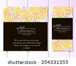 vintage delicate invitation... | Shutterstock .eps vector #354331355