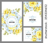 vintage delicate invitation...   Shutterstock .eps vector #354334652