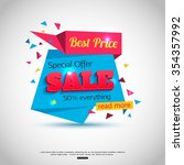 super sale banner design. sale... | Shutterstock .eps vector #354357992