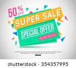 sale banner design. vector... | Shutterstock .eps vector #354357995