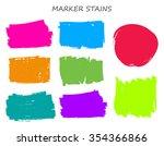 marker stains. grunge banners.... | Shutterstock .eps vector #354366866