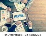 business team concept  mentor | Shutterstock . vector #354380276