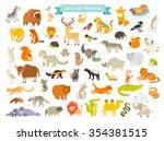 eurasian animals vector... | Shutterstock .eps vector #354381515