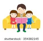 reading | Shutterstock .eps vector #354382145