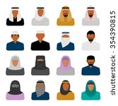 middle eastern people icons in ...   Shutterstock . vector #354390815