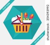 valentine's day present bucket... | Shutterstock .eps vector #354393992