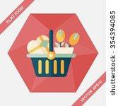 valentine's day present bucket... | Shutterstock .eps vector #354394085