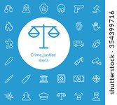 crime  justice outline  thin ...   Shutterstock .eps vector #354399716