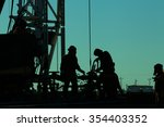 oil drilling exploration  the... | Shutterstock . vector #354403352