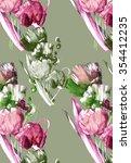 3 tulips texture pattern 2 | Shutterstock . vector #354412235