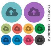 color cloud upload flat icon...