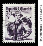 austria   circa 1950  a stamp... | Shutterstock . vector #354416948