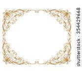 premium gold vintage baroque... | Shutterstock .eps vector #354429668