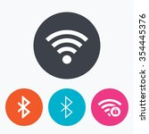 wifi and bluetooth icons.... | Shutterstock .eps vector #354445376