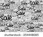 sale word cloud background ... | Shutterstock . vector #354448085