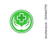 medical green pharmacy sign... | Shutterstock .eps vector #354464795