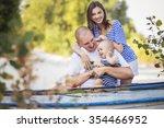 happy smiling family of slim... | Shutterstock . vector #354466952