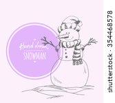 Hand Drawn Cute Snowman