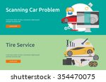 mechanic and car repair banner... | Shutterstock .eps vector #354470075
