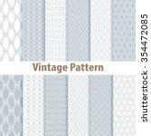 set of nine seamless pattern in ...   Shutterstock . vector #354472085