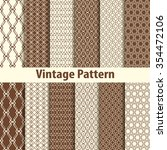 set of nine seamless pattern in ... | Shutterstock . vector #354472106