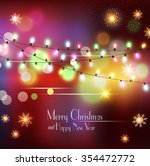 vector christmas holiday ... | Shutterstock .eps vector #354472772