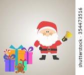christmas of santa claus  flat... | Shutterstock .eps vector #354473516