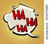 Comic Bubble Head Laughter Ha...