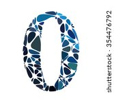 blue alphabet cell number style | Shutterstock .eps vector #354476792
